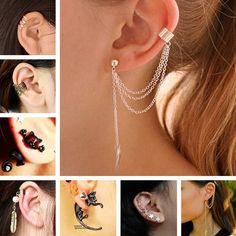 ES10009 Stud Earrings For Women Feather Tassel Cat Star Spider Brincos Ear Cuff Fashion Jewelry 2016 -  http://mixre.com/es10009-stud-earrings-for-women-feather-tassel-cat-star-spider-brincos-ear-cuff-fashion-jewelry-2016/  #StudEarrings