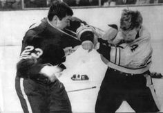 file photo of Toronto's Pat Quinn and Boston Bruin's Bobby Orr going at each other. Vancouver Canucks, Hockey Games, Hockey Players, Pat Quinn, Nhl Highlights, Bobby Orr, Boston Bruins Hockey, Sports Personality, Nhl News
