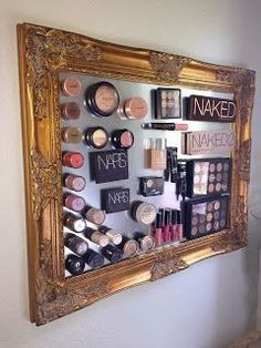 Easy Bedroom Organizing Ideas on a Budget – DIY Magnetic Makeup Board – Make up Artist