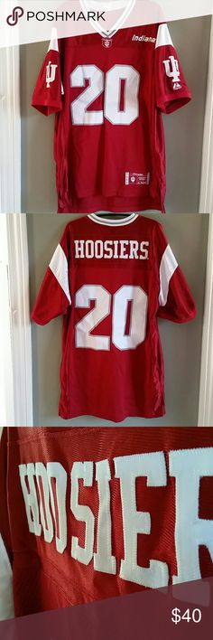 *Embroidered IU Jersey* Immaculate condition and barely worn. This jersey is my most favorite. EVER. It's flashy and looks amazing.  It's pretty heavy duty. Got it for my brother and he wore it about two times. Majestic Shirts Tees - Short Sleeve