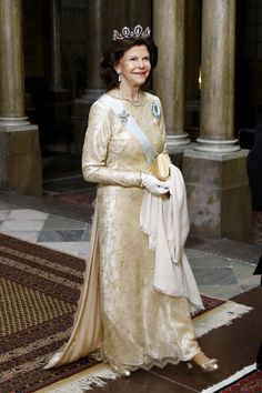 Queen Silvia of Sweden at the Royal Palace in Sweden. 11 Feb 2015