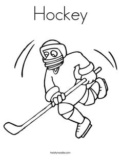 Hockey Coloring Page - Twisty Noodle