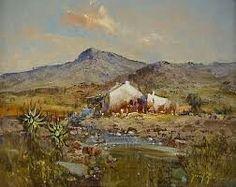 Oil Paintings, Landscape Paintings, Landscapes, African House, Art Oil, Cottages, Gabriel, Watercolor Art, South Africa
