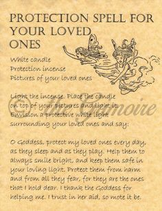 Protection Spell for your Loved Ones, Book of Shadows Spells Page, Wicca, BOS • $1.85