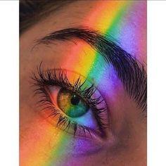 Be a rainbow in someone elses ____________ fashiongram aesthetic aestheticstyle rainbow eyes lips hair grunge cute women girls Aesthetic Eyes, Gay Aesthetic, Rainbow Aesthetic, Aesthetic Images, Aesthetic Collage, Aesthetic Makeup, Aesthetic Backgrounds, Aesthetic Wallpapers, Aesthetic Grunge