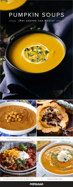Once you've mastered the classic, it's time to turn your attention to pumpkin curry, pumpkin-coconut bisque, and even pumpkin chili (thickened pumpkin itself!). These 13 soup recipes, all unique in ingredients and execution, will ensure that you never grow weary of cracking open a can of pumpkin again.