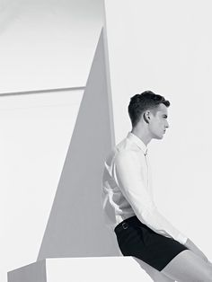 James Smith fronts Sandro's Spring/Summer 2013 lookbook. The collection features youthful and elegant looks, clean lines and some interesting prints.