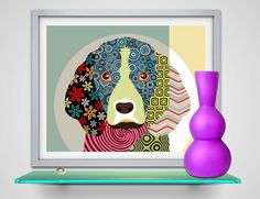Beagle Dog Pop Art Print Poster, Dog illustration, Dog Painting, Colorful Dog Portrait Animal Pet Wall Decor  Also available in 11 X 14 @ $26 and 16 X 20 @ $46. Please click any of the links below for upgrades  https://www.etsy.com/ca/listing/152591821/upgrade-any-8-x-10-artprint-to-11-x-14?ref=shop_home_active  https://www.etsy.com/ca/listing/164031323/any-16-x-20-artprint-only?ref=shop_home_active  * Printed on premium photo paper luster  * This print is unmatted & unframed  * Print size…