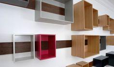 Schieberegal, gli scaffali in legno di Lutz Hüning - 1/3