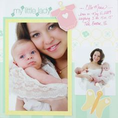 Fabulous Baby Girl 8x8 Scrapbook Layout Idea