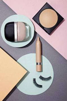 Various cosmetics in still life stock photo - OFFSET