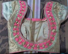 30 Latest Patch Work Saree Blouse Designs Patch work blouse designs are very attractive looking because of the work that they have. Patch work designs usually have layers of fabrics used to form different patterns and designs. Brocade Blouse Designs, Patch Work Blouse Designs, Simple Blouse Designs, Stylish Blouse Design, Designer Blouse Patterns, Blouse Neck Designs, Dress Designs, Fabrics, Hand Designs