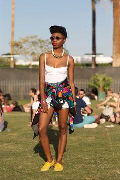 50+ Stylish Folks Who Rocked Coachella #refinery29  http://www.refinery29.com/coachella-style#slide73  Melissa Sutherland's jacket does double duty as a hip accessory.