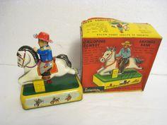 Yonezawa Galloping Cowboy.  Battery operated toy 50s/ebay