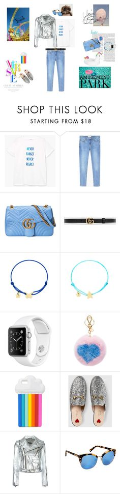 """Day at the amusement park!"" by dvpdvp ❤ liked on Polyvore featuring MANGO, Gucci, Cotton Candy, Miu Miu, Versace, STELLA McCARTNEY, Manokhi and Henri Bendel"