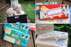 great ideas of fun things and ways to mail stuff!  love the candy box mailed like this!