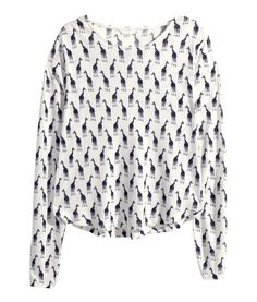 Giraffe pattern long sleeve | H&M CA