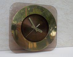 Modernist Kienzle Germany clock, metal,plastic clock, working clock, wall clock, unique clock, rare clock, gift idea, old, vintage, retro Unique Clocks, Clock Wall, Germany, Plastic, Retro, Unique Jewelry, Handmade Gifts, Vintage, Home Decor