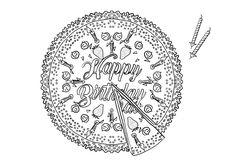 Dieses Mandala mit Geburtstagskuchen ist auch ein originelles Tischset. Gratis. Personalized Items, Blog, Easy Mandala, Birthday Cakes, Cook, Blogging