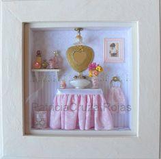 Lovely BaTHRooM RooM BoX ____Baño romántico toilette con miniaturas