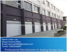 We have found quotes of roller shutters products from roller shutters supplilers, roller shutters vendors and roller shutters factories. Rolling Shutter, Roller Shutters, Shutter Doors, Aluminium Alloy, Garage Doors, Real Estate, Construction, Exterior, Outdoor Decor