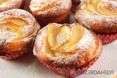 Fahéjas-almás muffin   Dunaszerdahelyi Hungarian Cake, Hungarian Recipes, Hungarian Food, Sweet Recipes, Cake Recipes, Macarons, Food And Drink, Menu, Sweets