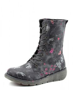Ladies Heavenly Feet Lacey Knee High Zip Up Boots