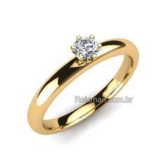 Anel de Noivado Solitário Santorini - Anéis de Noivado é na Reisman!