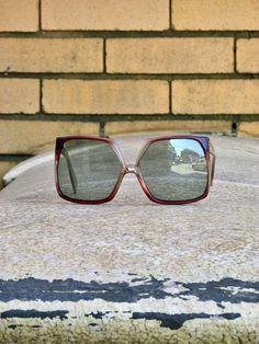 e28435db5ae6 Vintage 1970s Sunglasses Made in France Oversized Frames Square Lenses -  Mod - Disco - Vintage Fashion