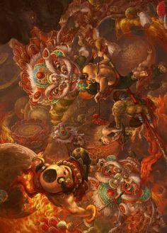 Monkey Art, Monkey King, High Fantasy, Fantasy Art, Character Drawing, Character Design, Journey To The West, Asian Artwork, Japanese Mythology