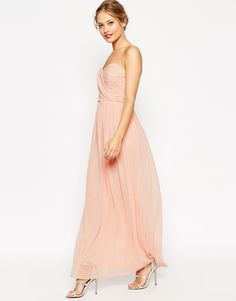 also comes in maroon + navy  ASOS WEDDING Bandeau Maxi Dress