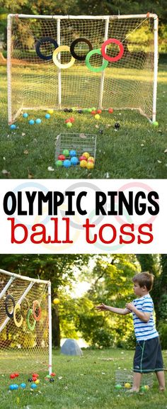 Ball Toss Olympic Rings Ball Toss: Super fun Olympic activity for kids of all ages! Great for gross motor and color recognition!Olympic Rings Ball Toss: Super fun Olympic activity for kids of all ages! Great for gross motor and color recognition! Kids Olympics, Special Olympics, Summer Olympics, Olympic Games For Kids, Olympic Idea, Summer Activities, Preschool Activities, Motor Activities, Physical Activities