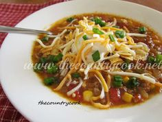 Slow Cooker Mexican Taco Soup | FaveSouthernRecipes.com