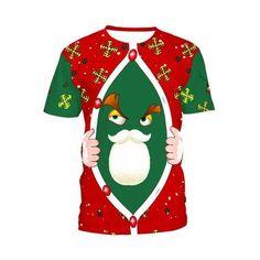 fa91e58b 3D Christmas Print T-shirt Men Women 2018 Fashion Santa Claus Tee Shir –  eticdress