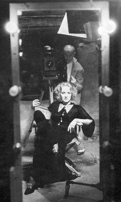 Marlene Dietrich on the set of Shanghai Express, 1932.