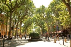 Cours Mirabeau, Aix-en-Provence, France - been there! Aix En Provence, Provence France, Cool Places To Visit, Great Places, Places To Go, Amazing Places, Luxury Family Holidays, Country Home Magazine, Road Trip