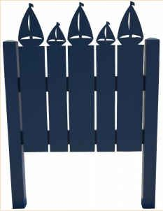 sail boat head board will go perfect to the nautical theme bedroom