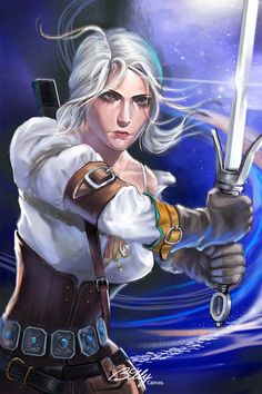 Ciri by BillyCanvas.deviantart.com on @DeviantArt