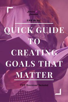 Quick Guide to Creating Goals That Matter http://lorrainepemmanuel.com/quick-guide-creating-goals-matter/?utm_campaign=coschedule&utm_source=pinterest&utm_medium=Lorraine%20P.%20Emmanuel&utm_content=Quick%20Guide%20to%20Creating%20Goals%20That%20Matter