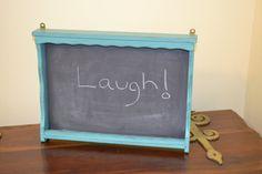 Shabby Chic Vintage  Chalkboard Message Board by LittlestSister, $25.00