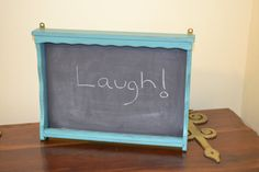 Shabby Chic Vintage  Chalkboard Message Board by LittlestSister, $25.00
