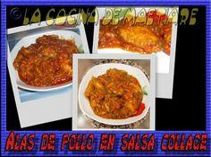 La cocina de Maetiare: Alas de pollo en salsa collage