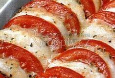 Zapečená rajčata s mozzarellou Easy Dinner Recipes, Snack Recipes, Healthy Recipes, Snacks, Czech Recipes, Ethnic Recipes, Fast Dinners, Vegetable Recipes, Mozzarella