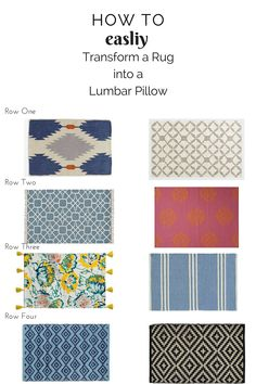 How To: Transform a Rug into a Pillow — Chic Little House