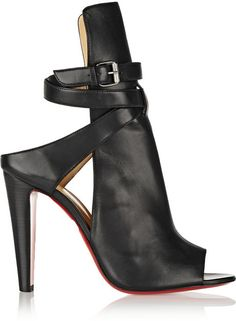 Christian Louboutin Hippik 100 cutout leather ankle boots on shopstyle.com