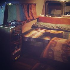 The interior. Model: Ford E350 Ford Econoline van converted to...