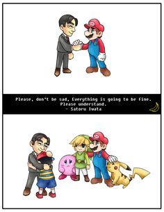 Rest In Peace Satoru Iwata Super Smash Bros Memes, Nintendo Super Smash Bros, Super Mario Bros, Video Games Funny, Funny Games, Satoru Iwata, Super Smash Ultimate, Nintendo Game, Rick Y Morty