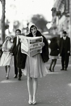 Modern Girls & Old Fashioned Men. I don't know, I just thought this photo was adorable.