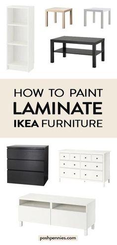 The Best Way To Paint IKEA Laminate Furniture If you've been wonderin. - The Best Way To Paint IKEA Laminate Furniture If you've been wondering exactly how to - Painting Ikea Furniture, Ikea Furniture Hacks, Laminate Furniture, Ikea Hacks, Furniture Projects, Painted Furniture, Home Furniture, Furniture Design, Furniture Storage