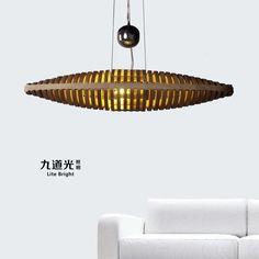 Design chandelier lamp modern minimalist living room dining room dining room light fixture lighting 20068DM Wooden boat